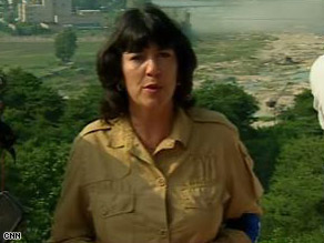 CNN's Christiane Amanpour was one of a handful of journalists permitted to see the tower's destruction.