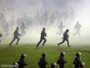 China has launched a series of anti-terror drills to ensure security for the Beijing Games.