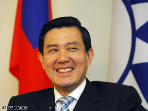 Smiling through it: President Ma Ying-jeou has some tough challenges ahead.