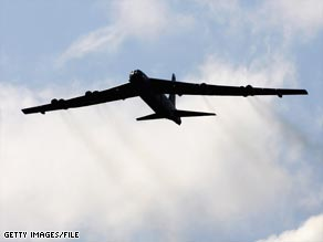 The B-52H Stratofortress, like this one, was in Guam as part of a four-month rotation.