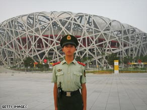China has tightened security around Beijing ahead of next month's Olympic Games.