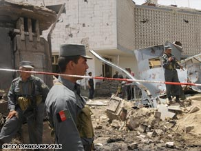 The Indian Embassy in Kabul was badly damaged in the July 7 bombing.