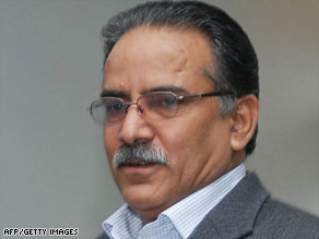 Pushpa Kamal Dahal, also known as Prachanda