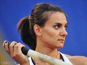 Eyes on the prize: Yelena Isinbayeva has often complained about a lack of real competition in her event.
