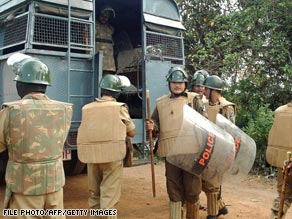 Police have been deployed in the state in the past to quell protests and violence between religious groups.
