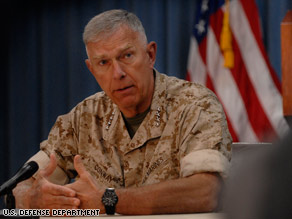 Marines could be pulled from Iraq's Anbar province, Gen. James Conway said Wednesday.