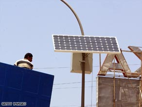 Keeping the lights on in Baghdad is more to do with security than being eco-friendly.