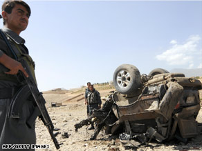 The Taliban says Saturday it detonated the bomb near Kabul, using a remote control device.