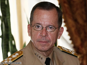 Adm. Michael Mullen will meet with Pakistan's new prime minister and its military chief. - art.mullen.afp.gi