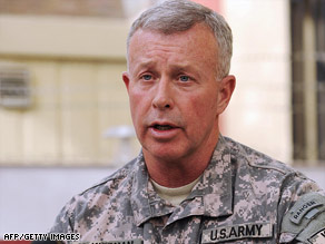 U.S. troops are seeing an increased threat in Afghanistan, Gen. David McKiernan says.