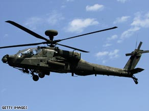 Apache attack helicopters are part of the $6.4 billion weapons deal between the U.S. and Taiwan.