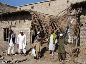 A missile, perhaps from a U.S. drone, hit a Taliban school Thursday in Pakistan's North Waziristan province.