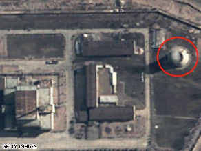 A satellite view of the nuclear facility at Yongbyon.