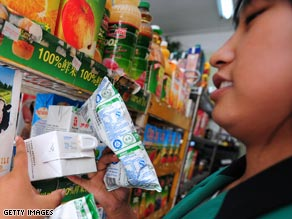 Chinese milk products were removed from shelves during the melamine scare.