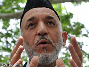Afghan President Hamid Karzai says Barack Obama has promised Afghanistan more aid.