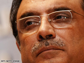 """President Asif Ali Zardari vowed to crack down on """"non-state actors"""" waging terrorism within Pakistan."""