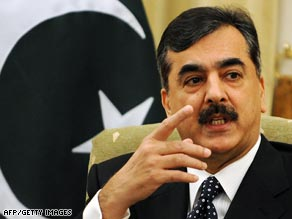 Prime Minister Yousuf Raza Gilani said Pakistani security forces had rounded up a number of militant figures.