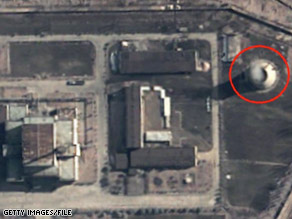 A satellite view from 2003 shows North Korea's nuclear facility at Yongbyon.