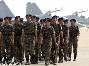 One U.S. official said India's air force &quot;went on alert&quot; after the attacks in Mumbai.