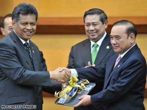 ASEAN welcomed its charter in a ceremony Monday in Jakarta, Indonesia.