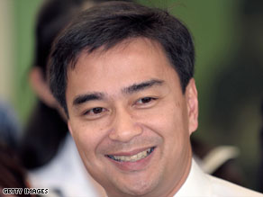 After just two days of taking office, Thai PM Abhisit Vejjajiva talked to CNN's Dan Rivers for Talk Asia.