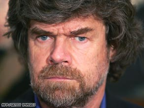 Italian mountaineer Reinhold Messner, whose expeditions have inspired others to seek adventure