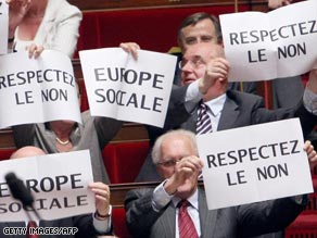 Communist deputies in the French National Assembly say Ireland's voted should be respected.