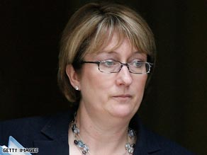 UK Home Secretary Jacqui Smith