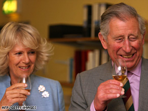 Prince Charles with Camilla, Duchess of Cornwall, on a visit to a whiskey distillery in Northern Ireland last month.