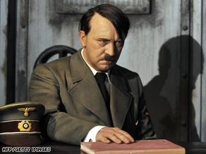 A wax likeness of Adolf Hitler sits in Berlin's Madame Tussaud's wax museum before Saturday's attack.