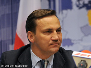 Polish Minister of Foreign Affairs Radoslaw Sikorski.