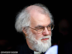 Rowan Williams, Archbishop of Canterbury, faces calls to stop the consecration of more gay bishops.