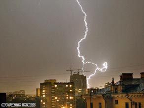 Dozens of people have been killed or injured by lightning in Russia.