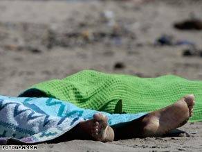 Photographs of the dead Roma girls on a beach caused outrage in Italy.