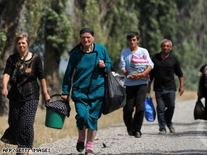 Thousands of people have been displaced by the worsening conflict in the region.