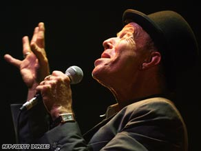 Tom Waits in Paris on the European leg of his tour.