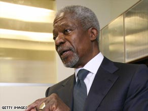 Time for change: Kofi Annan believes political progress is beginning to take effect in Africa.