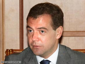 Russian President Dmitry Medvedev says his troops will begin withdrawing from Georgia on Monday.