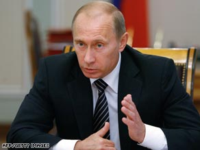 Russian PM Vladimir Putin has accused the U.S. of orchestrating the conflict in Georgia.