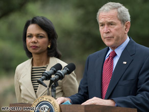 President Bush and Condoleezza Rice have been critical of Russia's use of military force against Georgia.