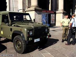 The army has been deployed in major cities aross Italy since the early summer.
