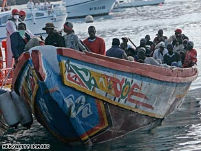 Many immigrants from Africa attempt to make the perilous journey across the Mediterranean in overcrowded boats.
