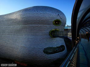 Worst in Britain: The Bullring Shopping Centre in Birmingham was voted as the country's ugliest building.