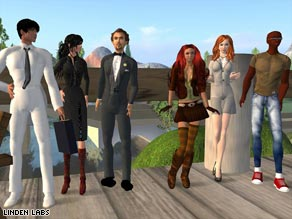 Second Life users can interact and form relationships with other players' avatars.