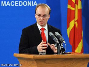 Macedonian Foreign Minister Antonio Milosevski