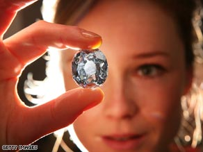 The 35.56-carat diamond dates back to the 17th century.