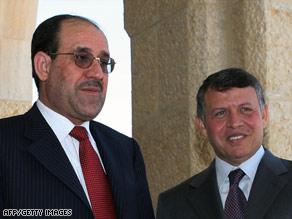Iraqi Prime Minister Nuri al-Maliki, left, and Jordan's King Abdullah II meet in Amman, Jordan, last month.