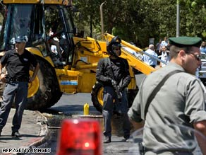 The attack was carried out by a 22-year-old Palestinian from East Jerusalem, police said.