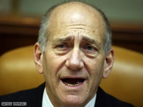 Israeli Prime Minister Ehud Olmert apparently does not believe a peace deal is possible by the year's end.