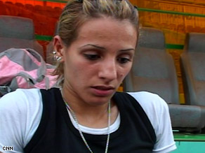 Sprinter Dana Hussein is one of two Iraqi athletes cleared to compete in the Beijing Summer Olympics.